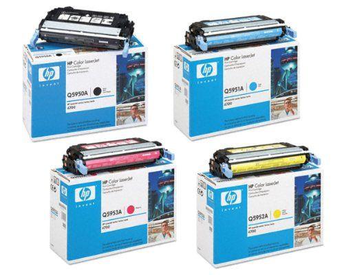 Hp Color Laserjet 4700n Toner Cartridge Set Oem Black Cyan Magenta Yelllow Toner Cartridge Toner Printer Supplies