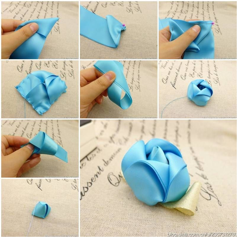 How to make rosette ribbons step by step diy tutorial for Flower making ideas step by step