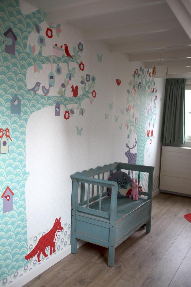 Boom Behang Babykamer.Behang Boom Kinderkamer Ideeen Boom Kinderkamer Kinderkamer