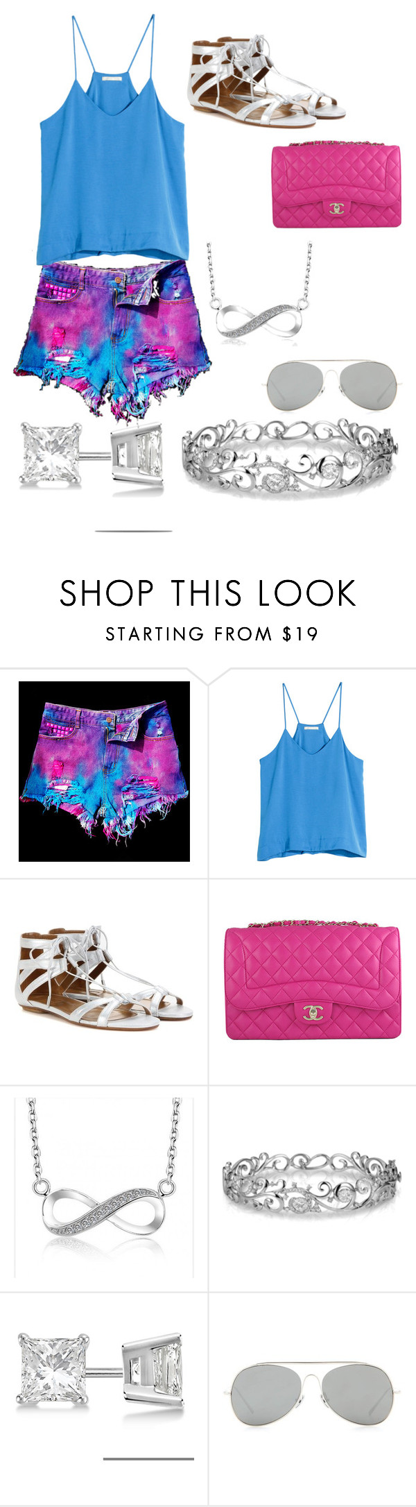 """Summer"" by msowers33 ❤ liked on Polyvore featuring WithChic, H&M, Aquazzura, Chanel, Effy Jewelry, Allurez, Acne Studios, women's clothing, women and female"