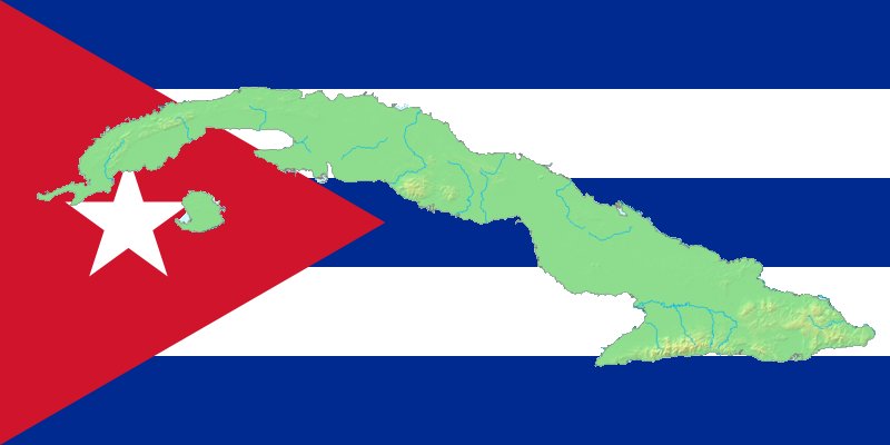 Flag Of Cuba File Map Flag Of Cuba Png Wikimedia Commons Cuba Flag Country Flags