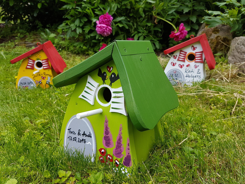 Vogelhaus Holz Nistkasten Vogelvilla Wetterfeste Farbe Mit Haken Zum Aufhangen Fur Den Garten