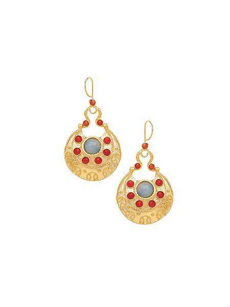 Cazibe flat drop earrings