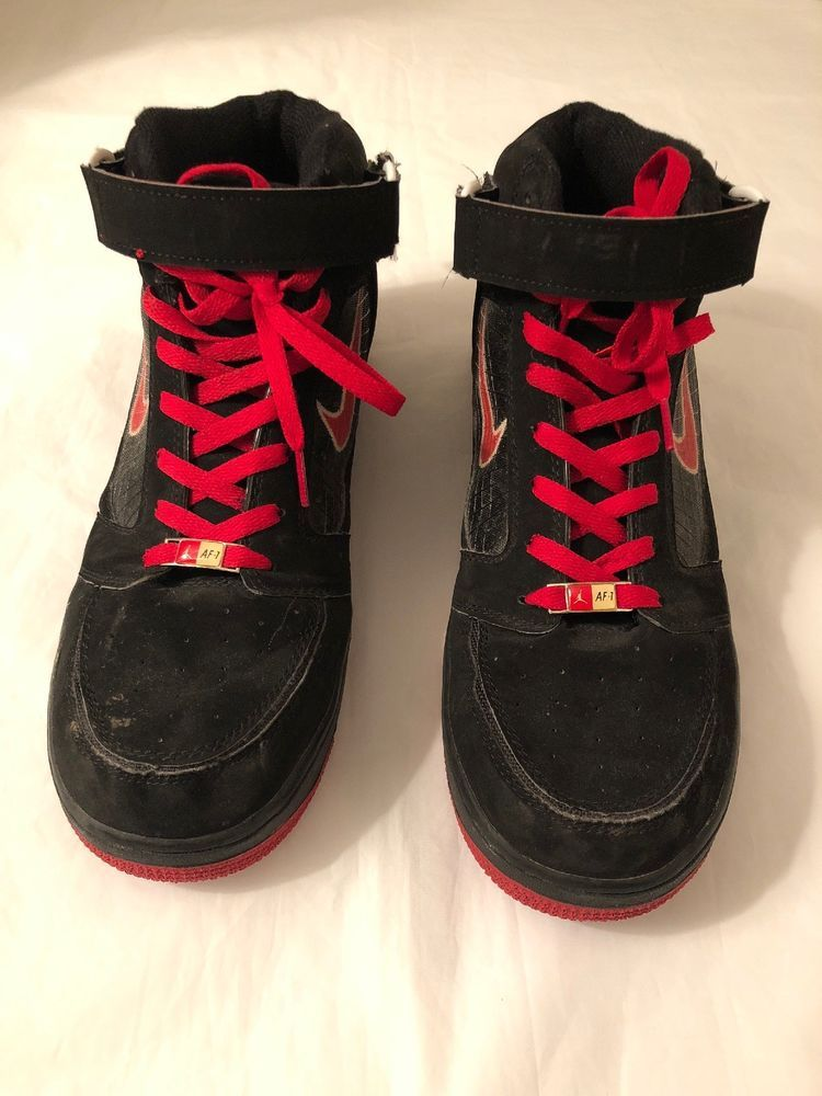 sports shoes 1f27c 5acb8 Nike Air Force 1 Jordan Suede Red And Black Size 12  fashion  clothing   shoes  accessories  mensshoes  athleticshoes (ebay link)