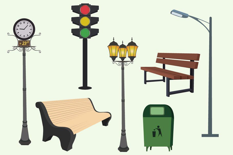 Plumbing Icons Flat Design In 2020 Lamp Post Crayola Colored Pencils Yellow