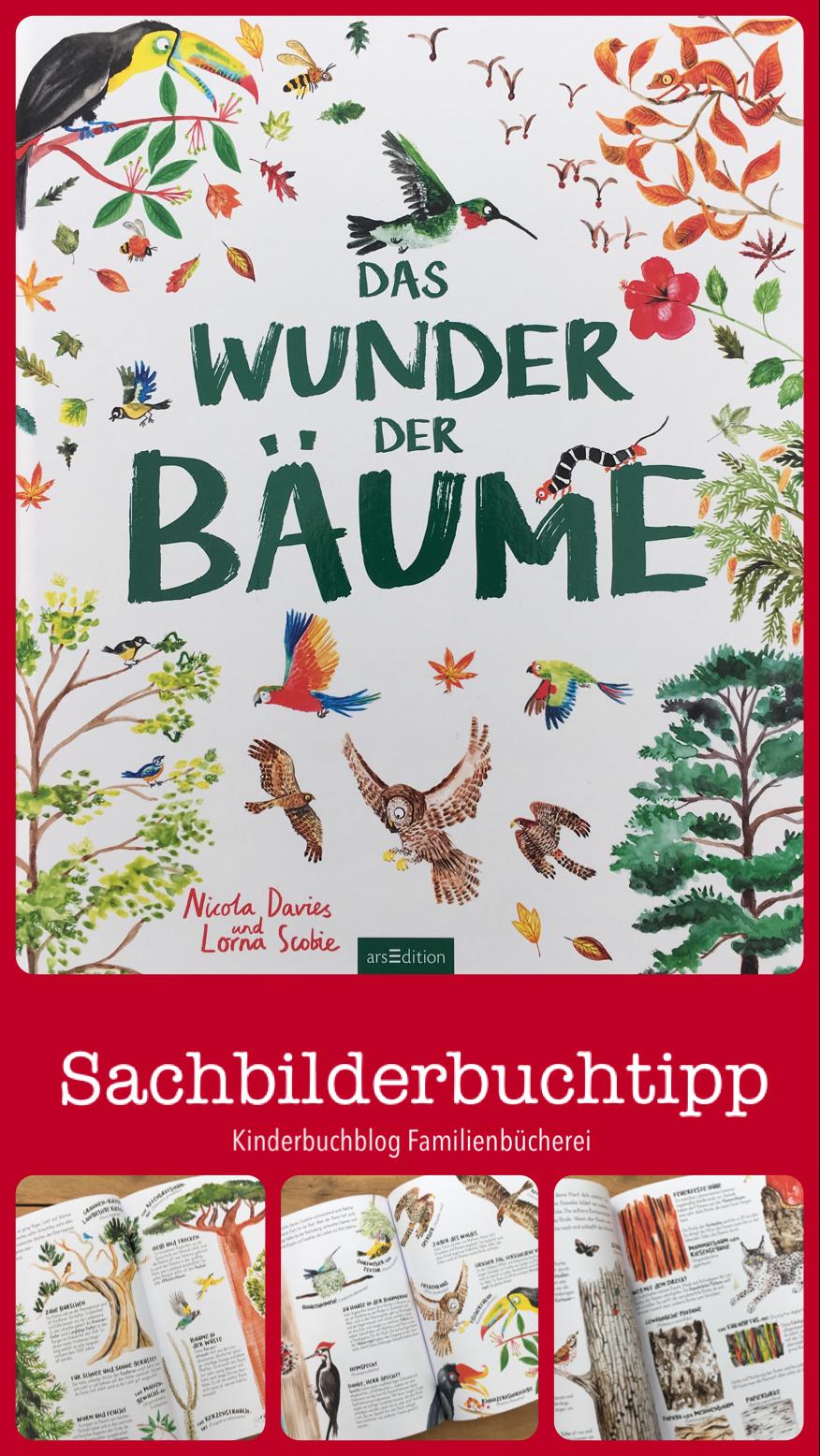 Nicola Davies weckt in uns die Faszination für Bäume. Sie zeigt uns die Vielfalt und Wunder und wie wichtig, die Bäume für uns Menschen und Tiere sind. Sie beeinflussen das Wetter, das Klima, filtern Gifte aus der Luft und geben uns Sauerstoff zum Atmen. Das sind nun einige Dinge, die Bäume für uns tun. Auf meinem Kinderbuchblog Familienbücherei stelle ich dir das wunderschöne Kindersachbuch näher vor. #Bäume #Klima #Vielfalt #Kinderbücher #Kinderbuch #Bilderbuch #Grundschule #ab7Jahren