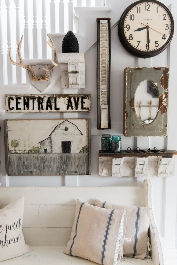 Eclectic Farmhouse Entryway Gallery Wall   A Great Source For Farmhouse  Inspiration. | Farmhouse Inspiration | Pinterest | Gallery Wall, Birch Lane  And ...