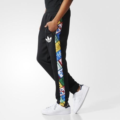 ac13dd29a9 adidas Tape Labels Fitted Pants - Black | adidas US | Pants | Adidas ...