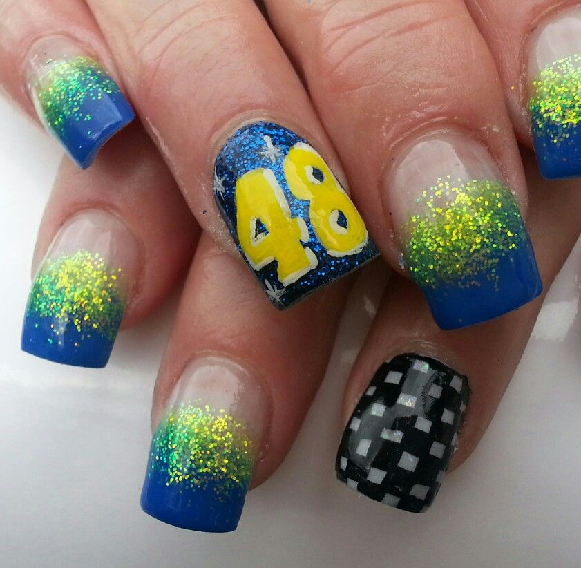 Nascar nails - Nascar Nails Nails By Janayna Pinterest Nascar Nails, NASCAR