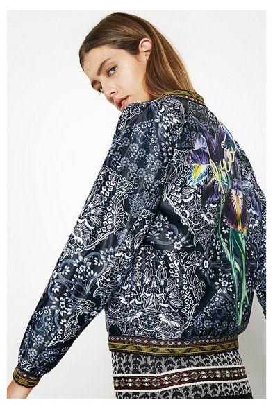 Desigual femme designer blouson manteau flor