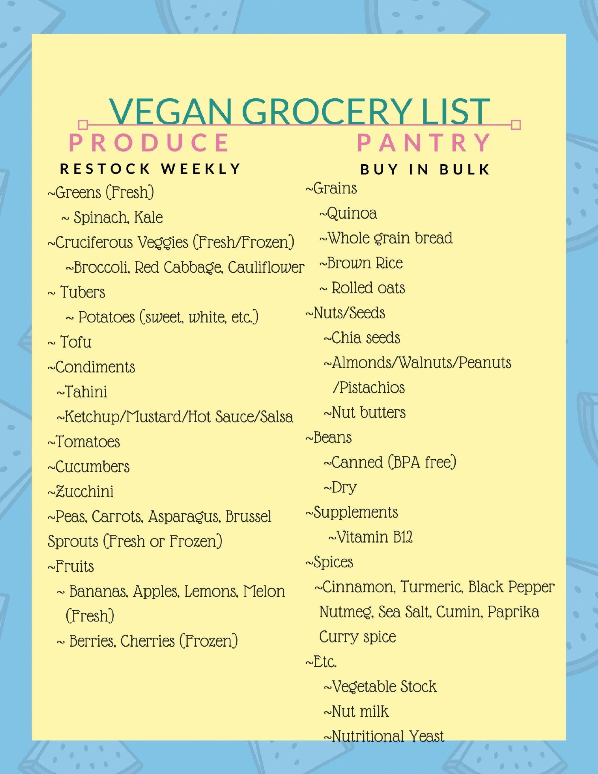 Check Out This Vegan Grocery List Vegan Grocery Vegan Pantry Staples Vegan Diet Vegan Meal Prep Vegan Starte Vegan Grocery Vegan Grocery List Vegan Pantry