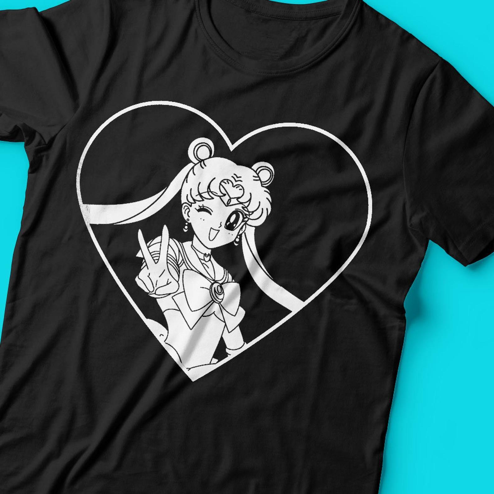 Sailor Moon Love Heart Inspired Line Art Anime