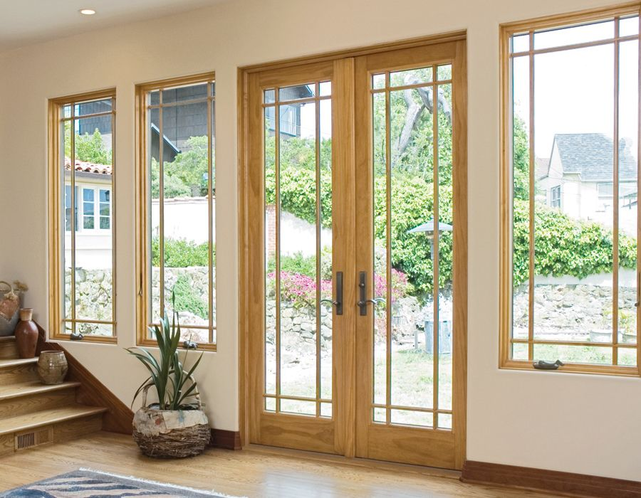 Elegant Entry Way With New Door And Matching Renewal By Andersen Casement Replacement  Windows