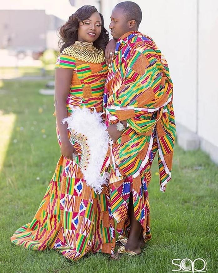 Kente kente wedding couple african wedding kente styles for African dress styles for weddings