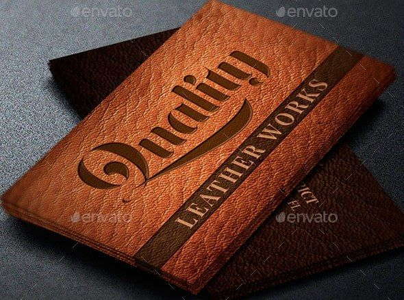 Leather Works Business Card Template With Images Business
