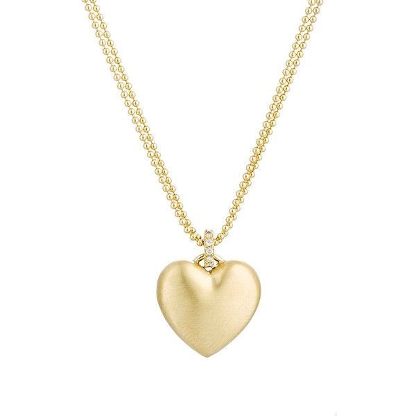 Finn puffed heart pendant necklace 836010 huf liked on finn puffed heart pendant necklace 836010 huf liked on polyvore featuring jewelry mozeypictures Choice Image
