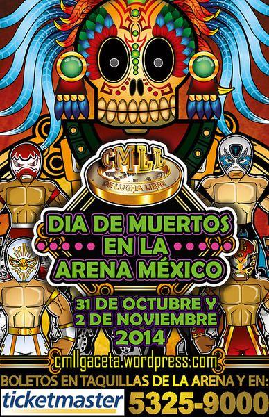 Día de muertos con lucha libre en la Arena México