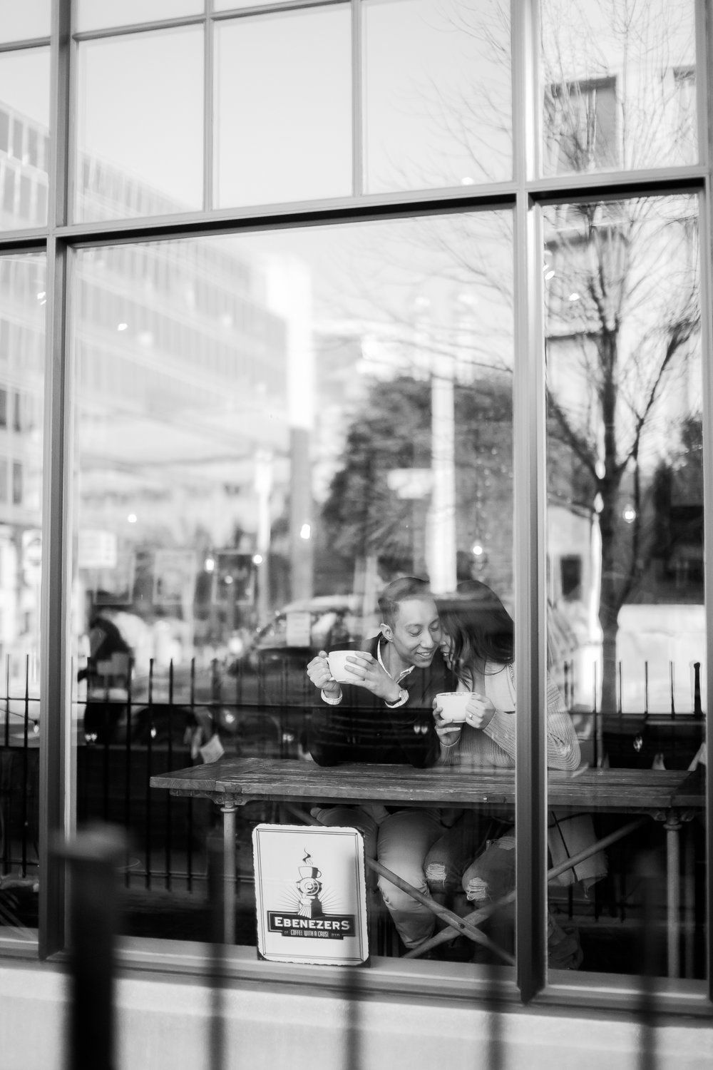 Ebenezers Coffeehouse in Washington DC Engagement shoots