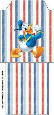 LARGE PARTY SET- Pato Donald – Kit Completo com molduras para convites, rótulos para guloseimas, lembrancinhas e imagens! | Fazendo a Nossa Festa