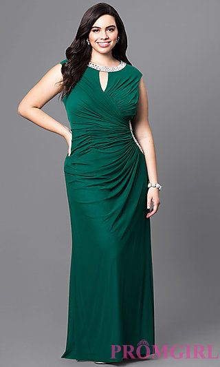 bee84ab0567 ... Plus Size Dress with Embellished Sheer Bodice. I like Style  JU-MA-293308 from PromGirl.com
