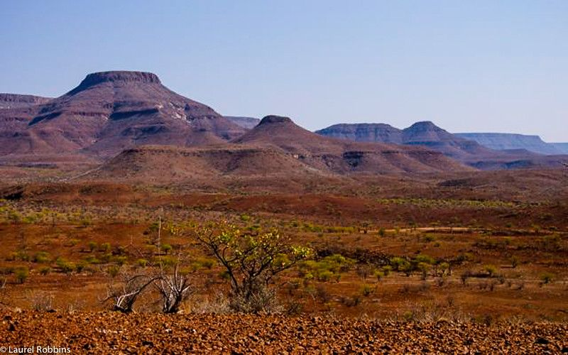 The unique landscape of Damaraland, Namibia.