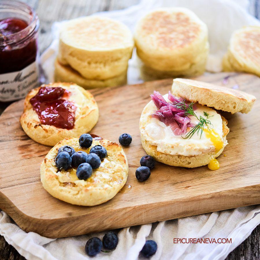 Buttermilk English Muffins Epicurean Eva Recipe In 2020 Breakfast Recipes Easy Homemade English Muffins Recipes