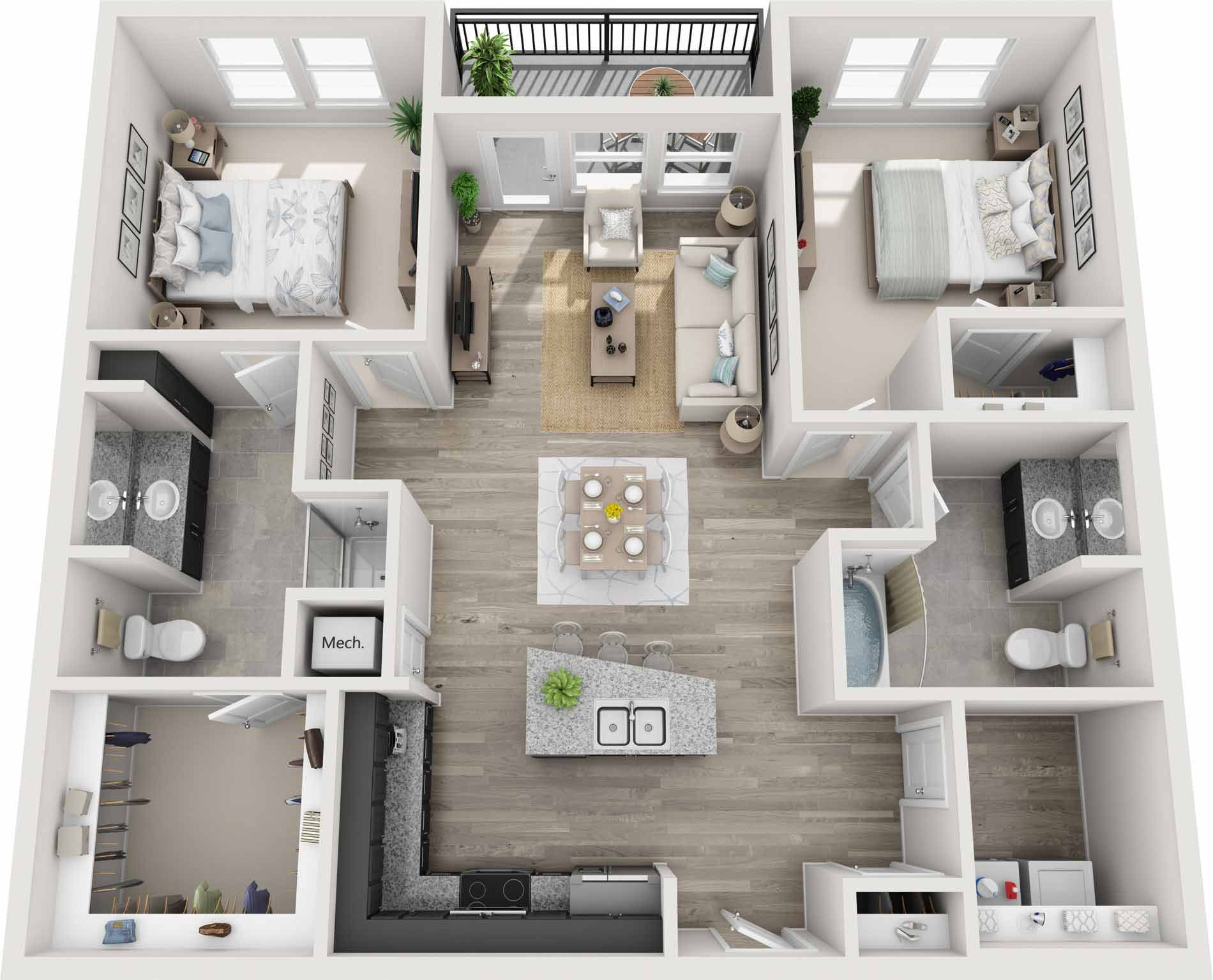 Luxury 2 Bedroom Apartments In Nashville 1211 Square Feet Apartment Layout House Floor Design Home Design Floor Plans