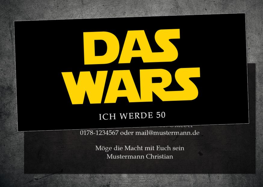 Einladung Zum 50 Geburtstag Star Wars Logo Das Wars Version