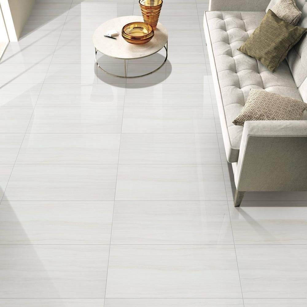Impress White Polished Porcelain Tile Floor Decor In 2020 Modern Floor Tiles Porceline Tile Floor Porcelain Tile