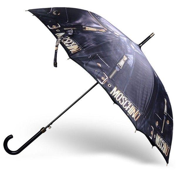 Moschino Umbrella ($135) ❤ liked on Polyvore featuring accessories, umbrellas, steel grey, logo umbrellas, moschino and moschino umbrella