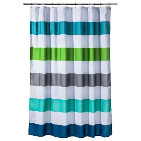 Great Boys Bath, Target $20 Circo™ Cool Rugby Stripes Shower Curtain