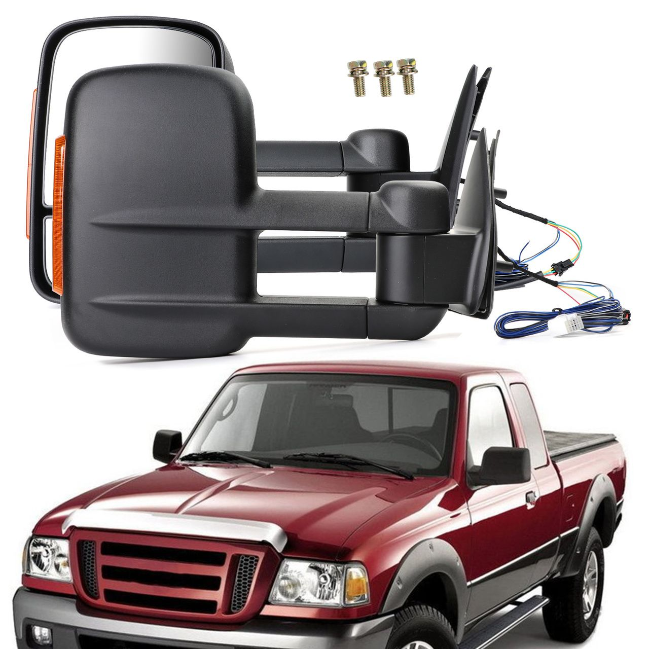 Mad Hornets Extendable Towing Mirrors For Ford Ranger 09 11 Pair Black 390 99 Http Www Madhornets Com Extendable Towin Ford Ranger Ranger Towing Mirrors