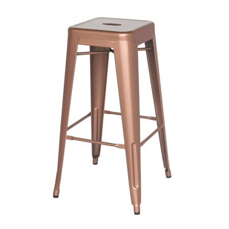 Sensational Bella Vita 30 Inch Galanized Steel Bar Stool In Rose Gold Gmtry Best Dining Table And Chair Ideas Images Gmtryco