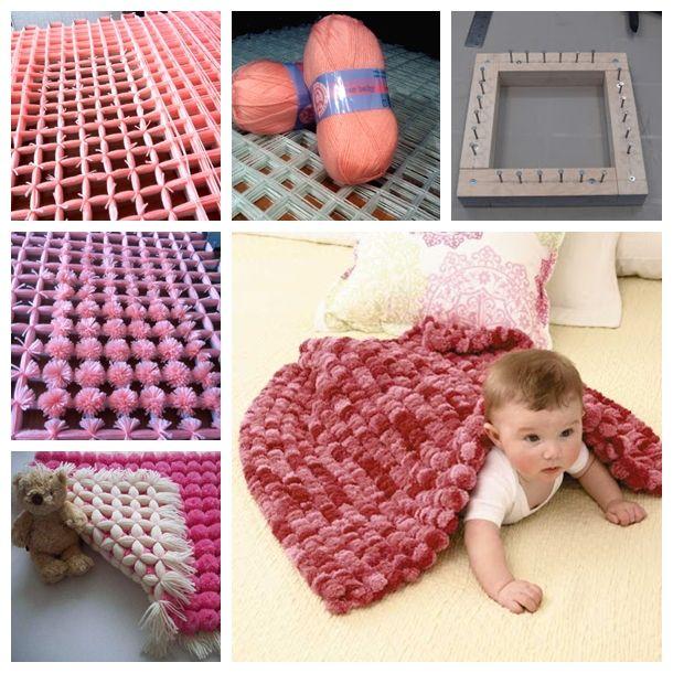 Pretty Pom Pom Baby Blanket Free Video Tutorial Dokuma Yastik Fikirler