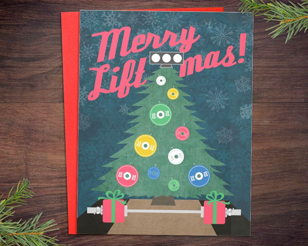Weightlifting christmas cards 5 or 10 pack merry liftmas platform weightlifting christmas cards 5 or 10 pack merry liftmas platform crossfit ornament fitness m4hsunfo