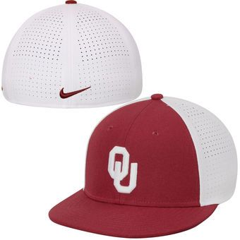 d39dc03e338756 Oklahoma Sooners Nike Players True Vapor Swoosh Dri-FIT Performance Hat -  Crimson/White