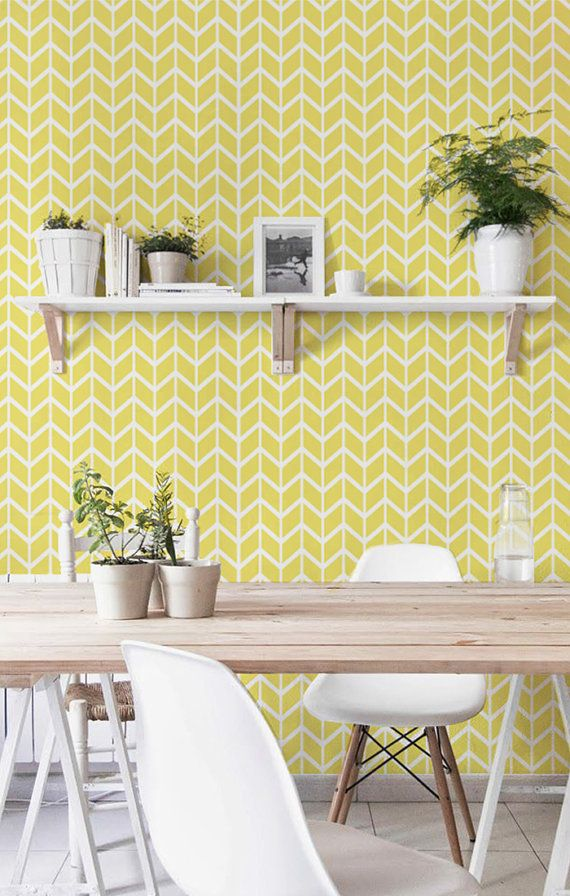auto amovible papier peint en vinyle adh sif d calque de mur impression de motif chevron. Black Bedroom Furniture Sets. Home Design Ideas