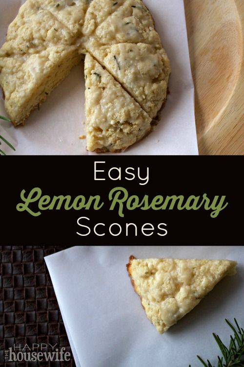 These Easy Lemon Rosemary Scones are delicious and simple to make. I always thought scones were dry and heavy, but real homemade scones are delightfully flaky and light in texture. | The Happy Housewife