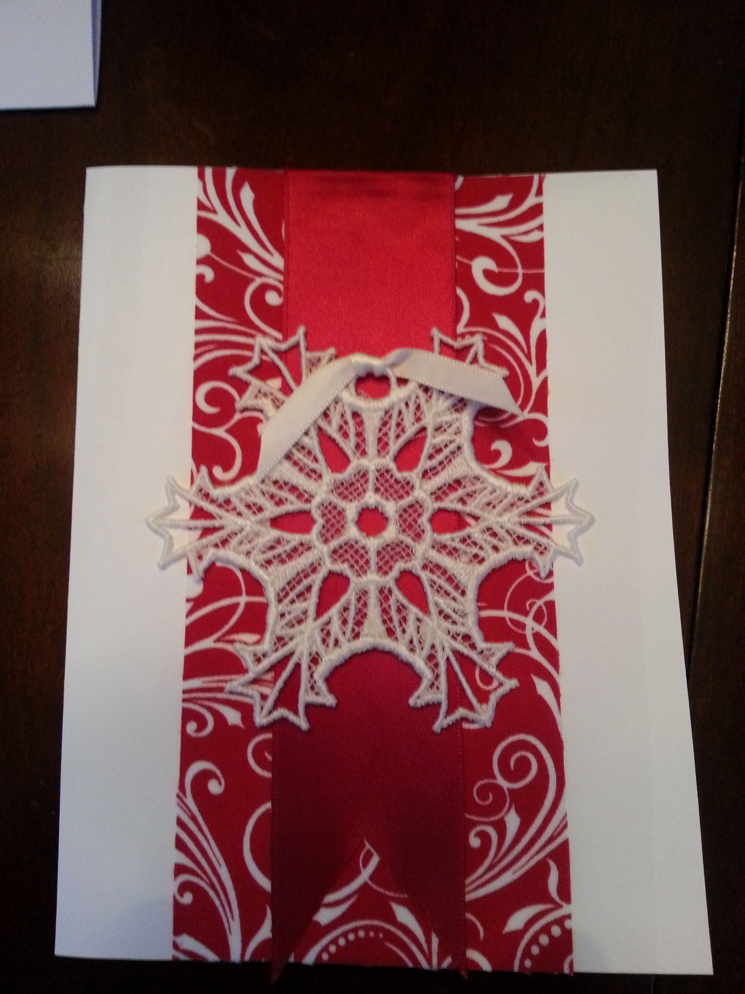 Freestanding lace ornament Christmas card Christmas card
