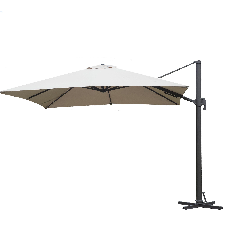 Atlantic Liberty Aluminum Square Patio Umbrella Tan Size 10