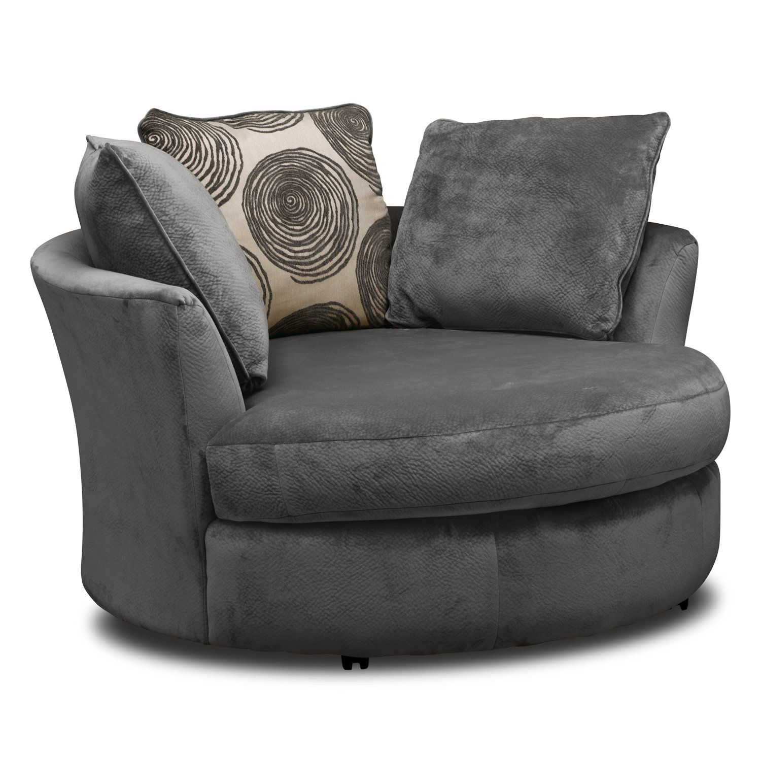 Designer Swivel Chairs For Living Room Living Room Furniture  Cordelle Swivel Chair  Gray  Living Room