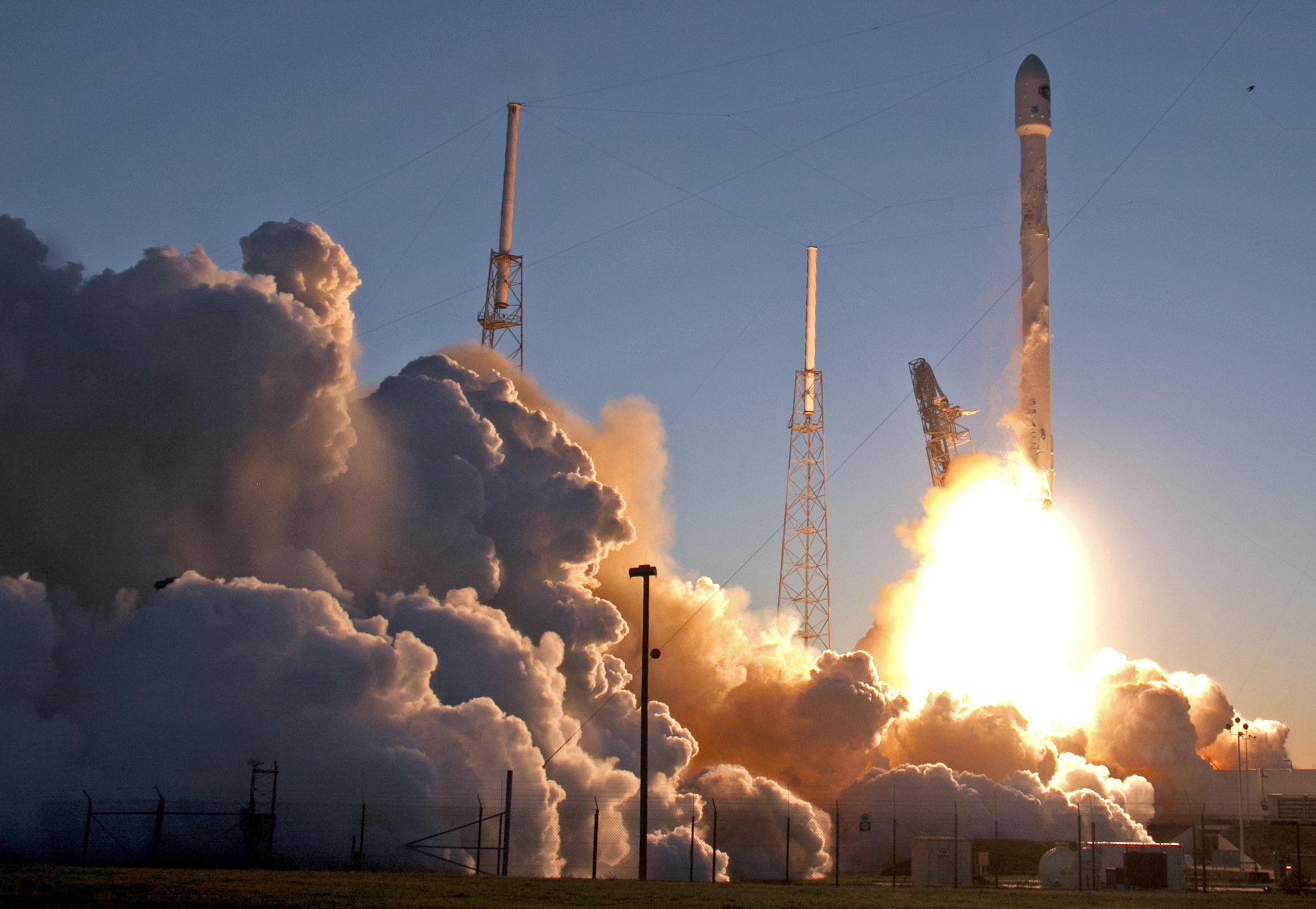 an unmanned falcon 9 spacex rocket lifts off from launch complex 40 at the cape canaveral air force station wednesday february in cape canaveral fla