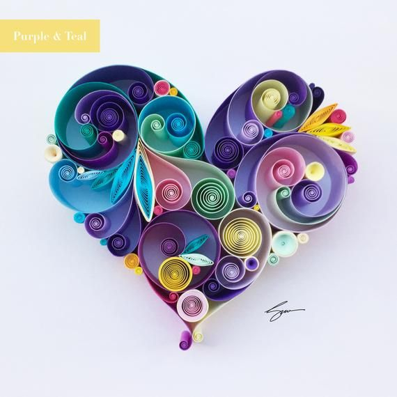 Love is All Around Quilling Art - Unique gift for Anniversary Paper anniversaryEngagement/Wedding giftJuly birthdayBest Friend Gift by SenaRuna