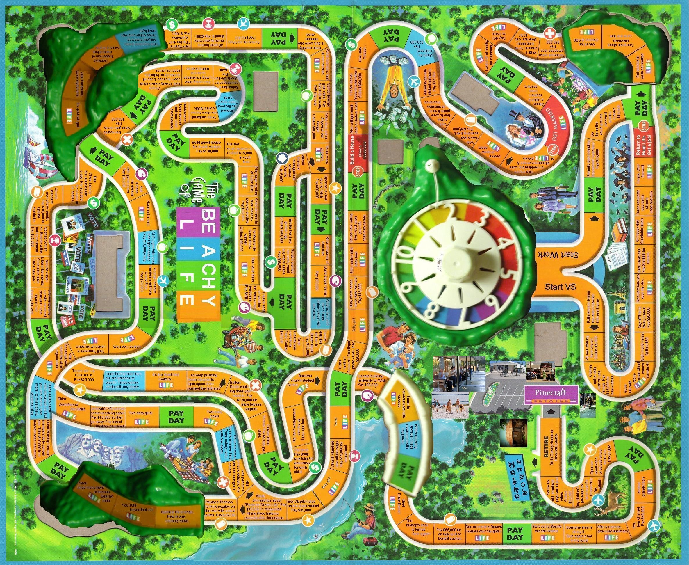 Race track printable board games - See 12 Best Images Of Printable Board Game Of Life Inspiring Printable Board Game Of Life Printable Images Free Printable Game Boards Life Board Game