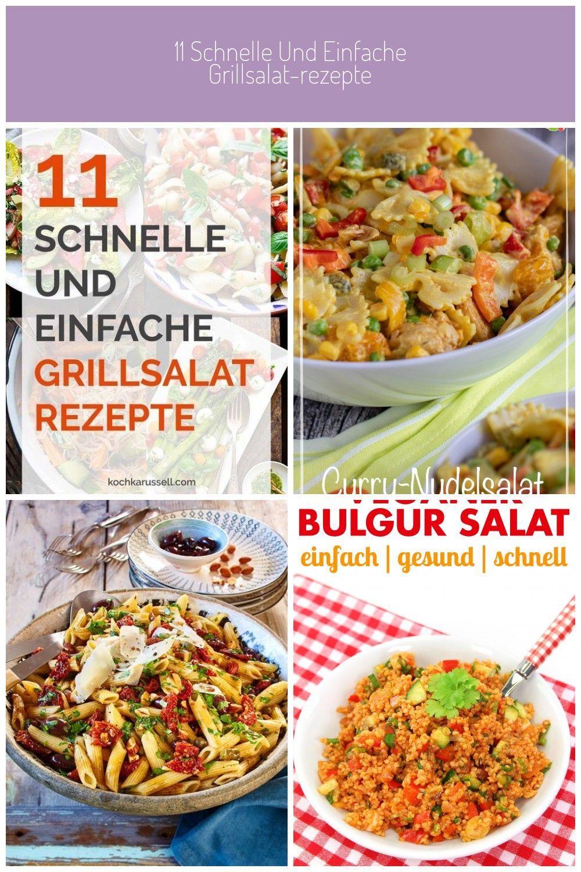 schnelle und einfache GrillsalatRezepte Vegetarisch vegan mit Fleisch  hier werdet ihr garantiert fündig Perfekt fürs BBQ  Rezepte grillen 11 schnelle und einfa...