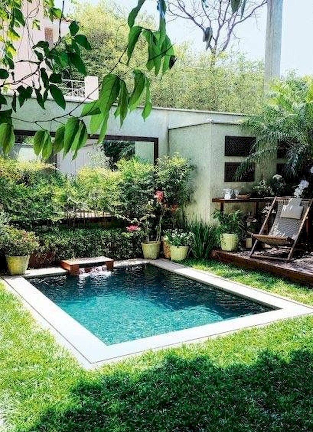 Gorgeous 90 Small Backyard Swimming Pool Ideas And Design Https Architeworks Com 90 Small Bac Swimming Pools Backyard Small Pool Design Backyard Pool Designs