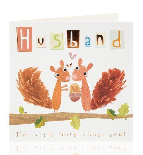 Squirrel Husband Birthday Card