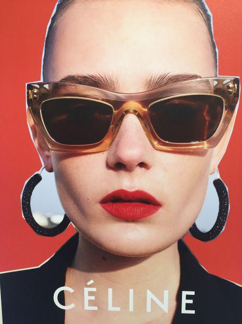 01cd962aeb0c Céline eyewear ad campaign SS16 by Juergen Teller •