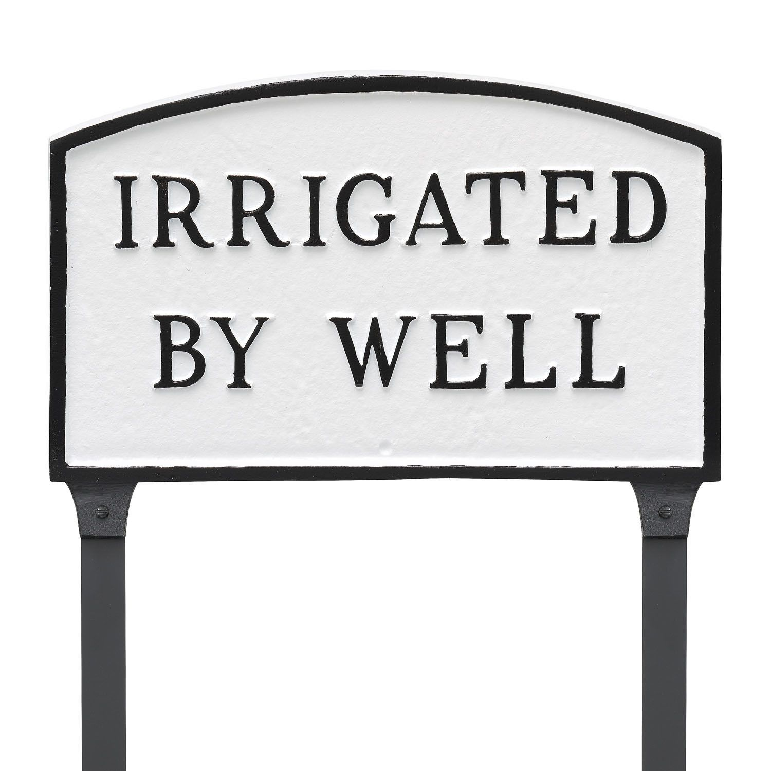 Arch Irrigated by Well Statement Address Plaque