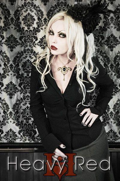 9994278b06e Gothic Lolita Black Pinnacle Dress Shirt - Heavy Red